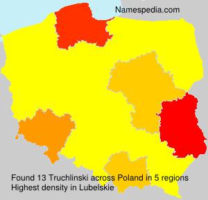 Surname Truchlinski in Poland