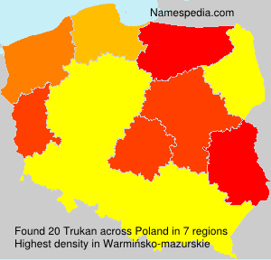 Surname Trukan in Poland