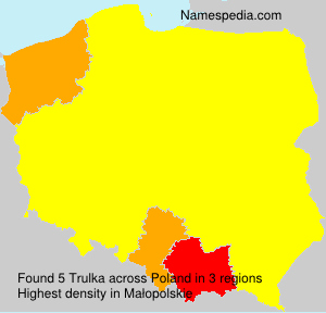 Surname Trulka in Poland