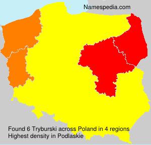 Surname Tryburski in Poland