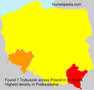 Surname Trybuszek in Poland