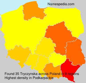 Surname Tryczynska in Poland