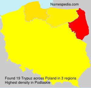 Surname Trypuz in Poland
