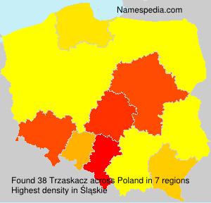 Surname Trzaskacz in Poland