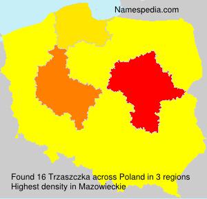 Familiennamen Trzaszczka - Poland