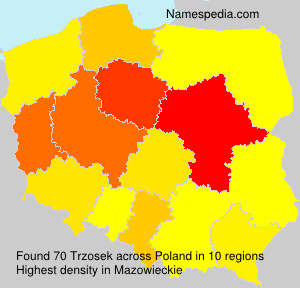 Familiennamen Trzosek - Poland