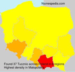 Surname Tucznio in Poland