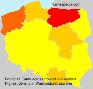 Surname Tuma in Poland