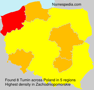 Surname Tumin in Poland