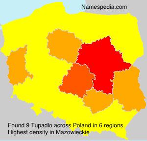 Surname Tupadlo in Poland