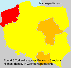 Surname Turkawka in Poland