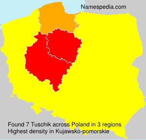 Surname Tuschik in Poland