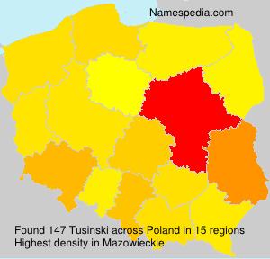 Surname Tusinski in Poland