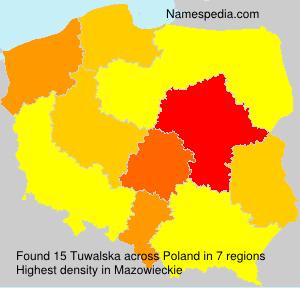 Surname Tuwalska in Poland