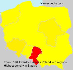 Surname Twardoch in Poland