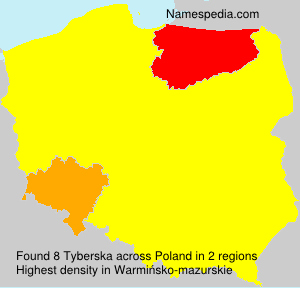 Surname Tyberska in Poland