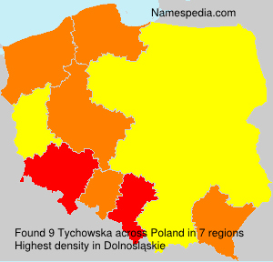 Surname Tychowska in Poland