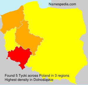 Surname Tycki in Poland