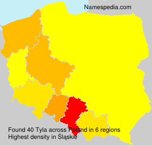 Surname Tyla in Poland
