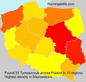 Familiennamen Tymoszczuk - Poland