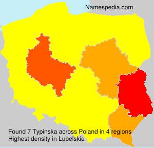 Surname Typinska in Poland