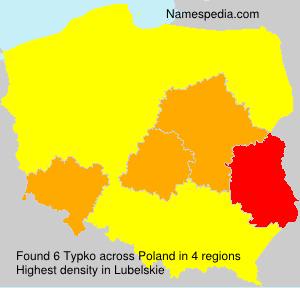 Surname Typko in Poland