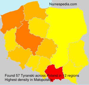 Familiennamen Tyranski - Poland