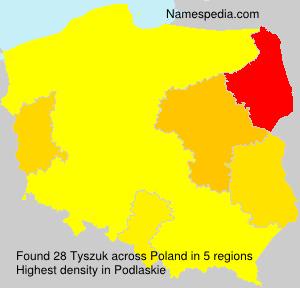Surname Tyszuk in Poland