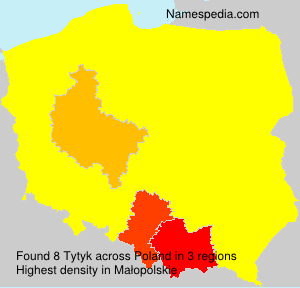 Surname Tytyk in Poland