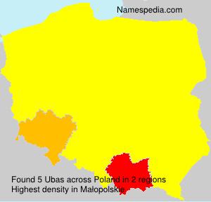 Familiennamen Ubas - Poland