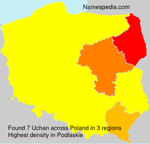 Surname Uchan in Poland