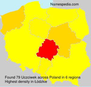 Familiennamen Uczciwek - Poland