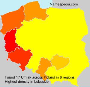 Familiennamen Ufniak - Poland