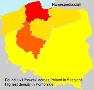 Familiennamen Ufnowski - Poland