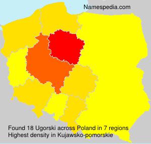 Surname Ugorski in Poland