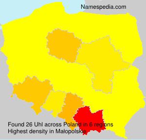 Surname Uhl in Poland