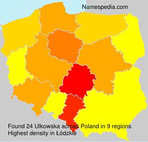 Surname Ulkowska in Poland