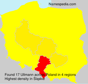 Familiennamen Ullmann - Poland