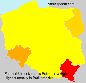Surname Ulomek in Poland