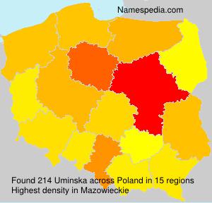 Familiennamen Uminska - Poland