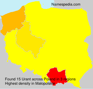 Surname Urant in Poland