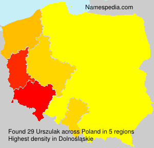 Surname Urszulak in Poland