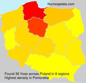 Familiennamen Voss - Poland