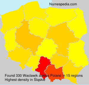 Surname Waclawik in Poland