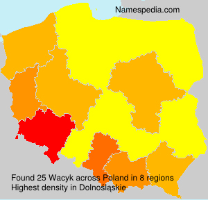 Surname Wacyk in Poland