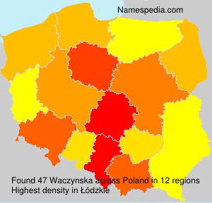 Familiennamen Waczynska - Poland
