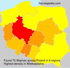 Familiennamen Wajman - Poland