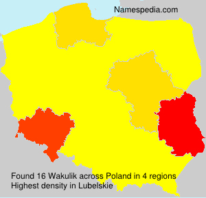 Surname Wakulik in Poland