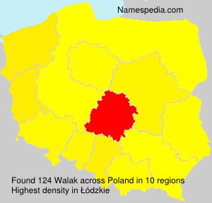 Familiennamen Walak - Poland