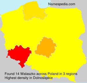 Surname Walaszko in Poland